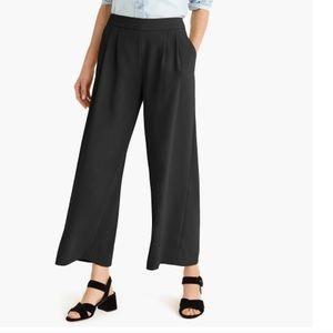 J. Crew Black Wide Leg Crepe Dress Pants